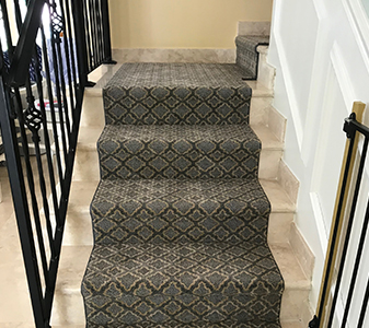 Stair carpet and runners by Paul's Carpet & Floor