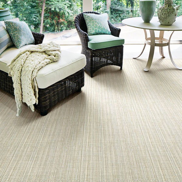 Stanton area rug, style Cable Beach, color Moss